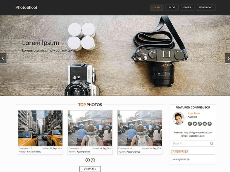 Photoshoot free WordPress theme