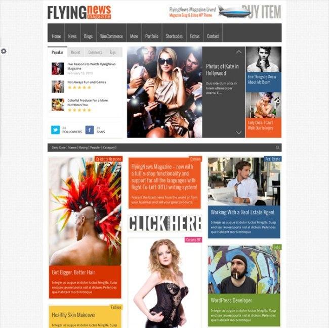 Pinterest style WordPress magazine theme