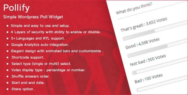 Pollify Simple Wordpress Poll Widget