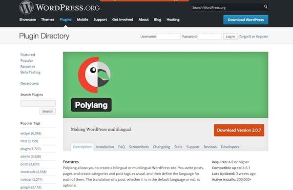 polylang multilingual plugin