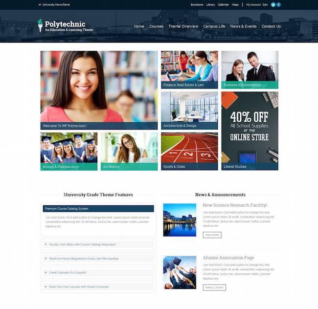 Polytechnic WordPress Theme