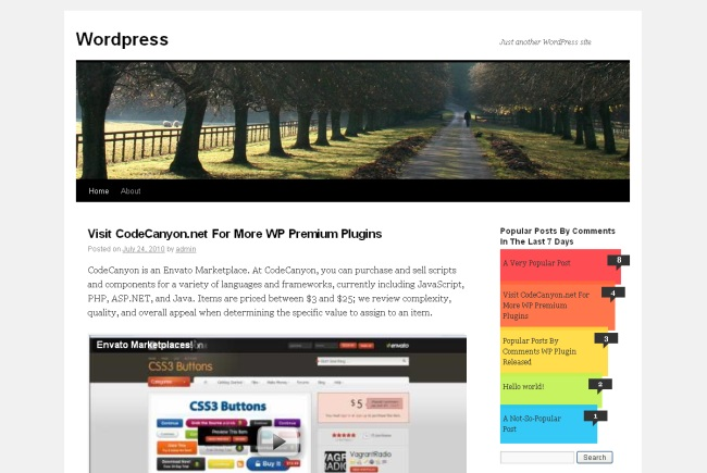Popular Posts Bar Widget for WordPress