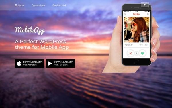 Best Parallax WordPress theme mobileapp demo