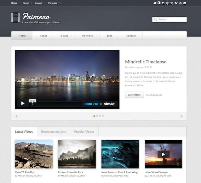 Primero Video WordPress Theme