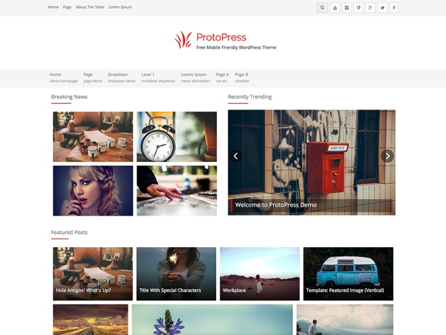 ProtoPress WordPress Theme
