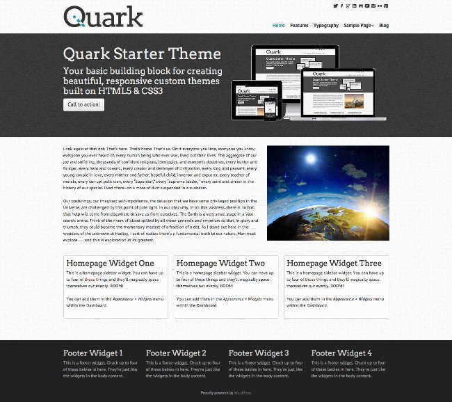 Quark WordPress Starter Theme