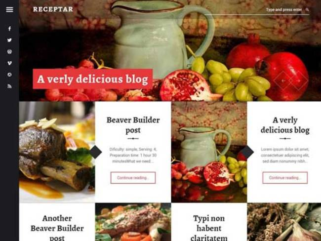 Receptar-wordpress-theme