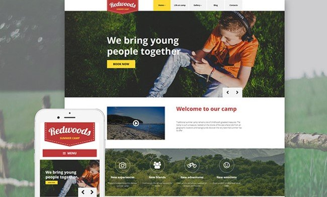 Red wood wp theme, event planner