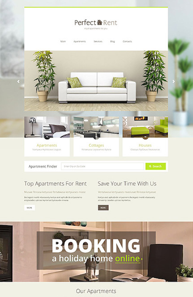 Renting an Apartment WordPress Theme