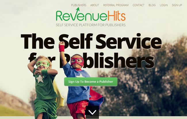 RevenuHits ad platform