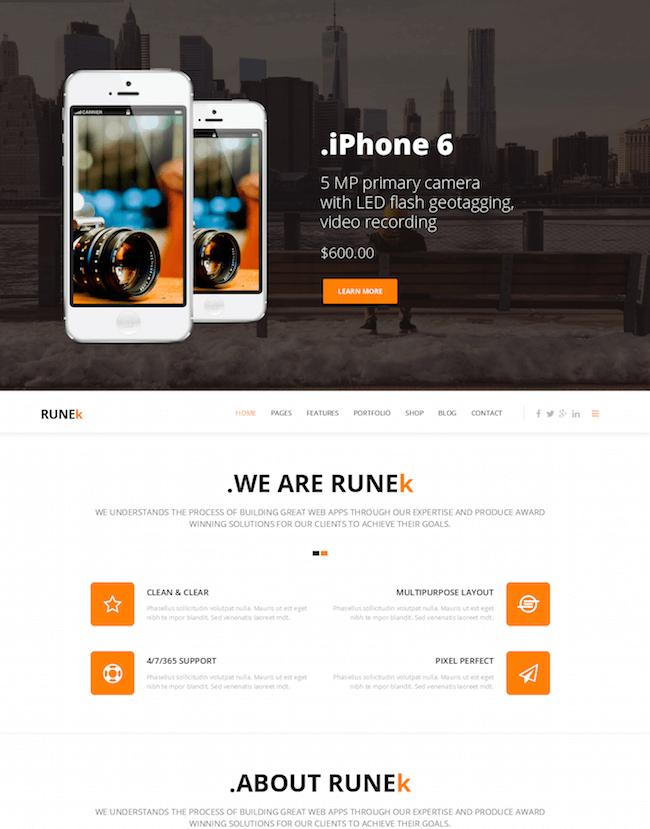 Runek WordPress Theme