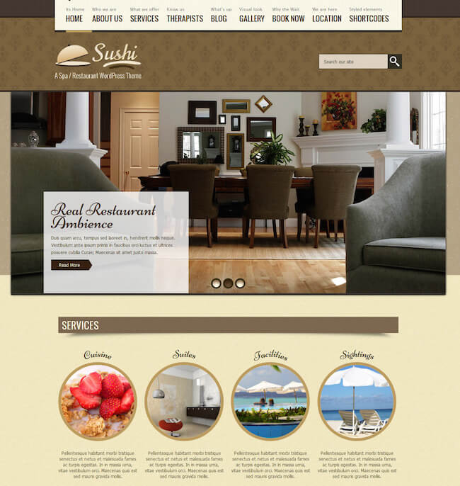 SPA Treats WordPress Theme