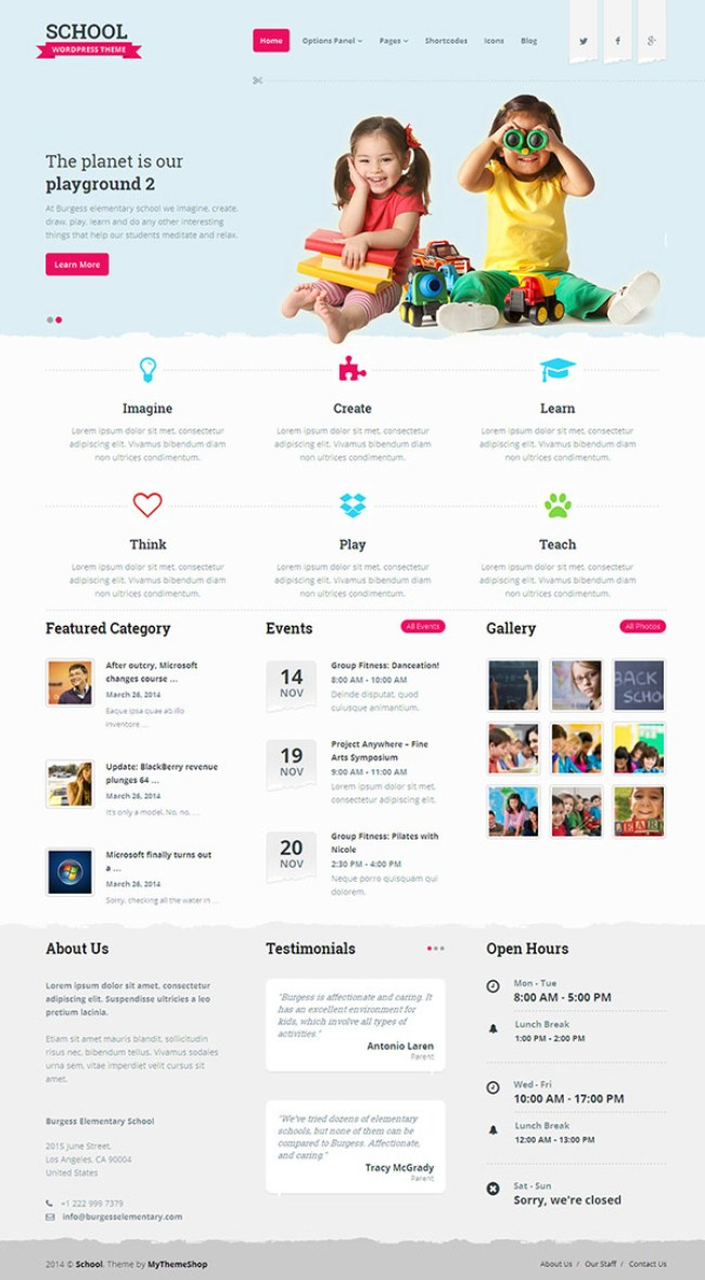 School-WordPress-Theme