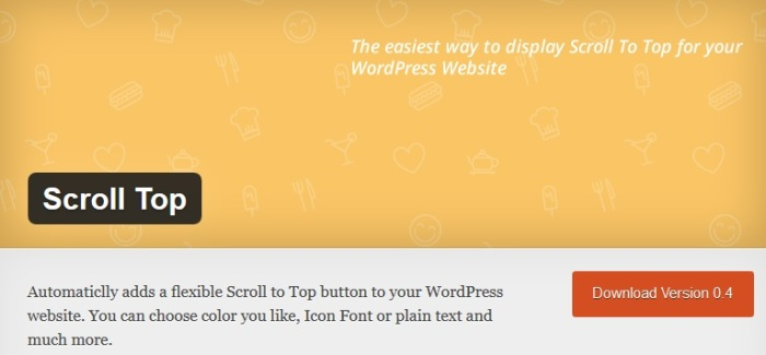 Scroll top plugin
