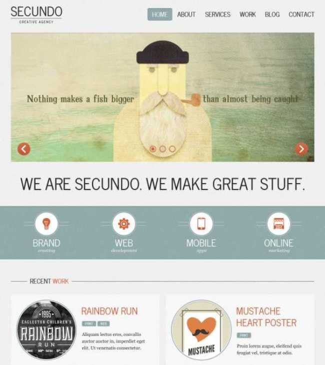 Secundo retro style WordPress theme