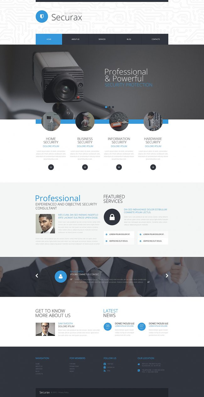 Security Systems WordPress Theme