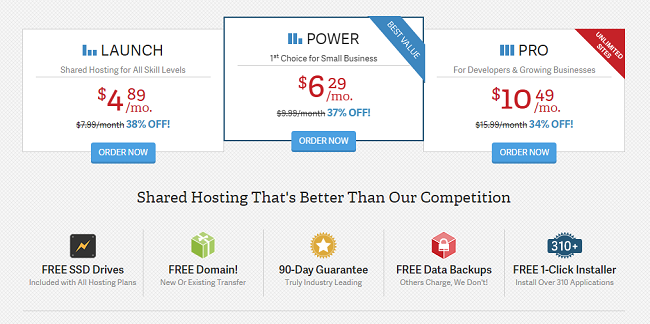 Shared Hosting Providers InMotion