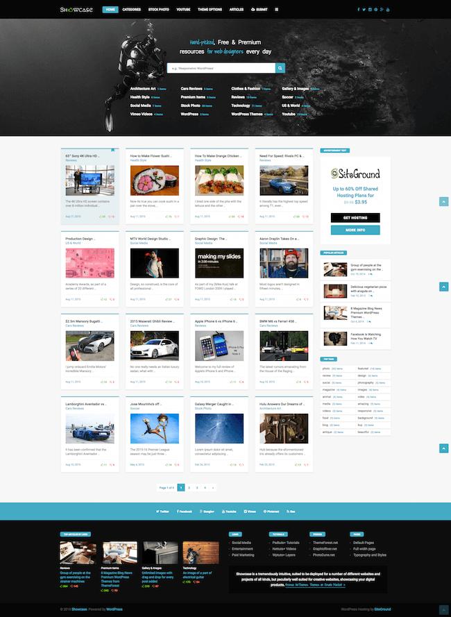 Showcase Masonry Blog Theme