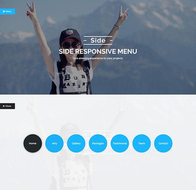 Side Wordpress Responsive Menu