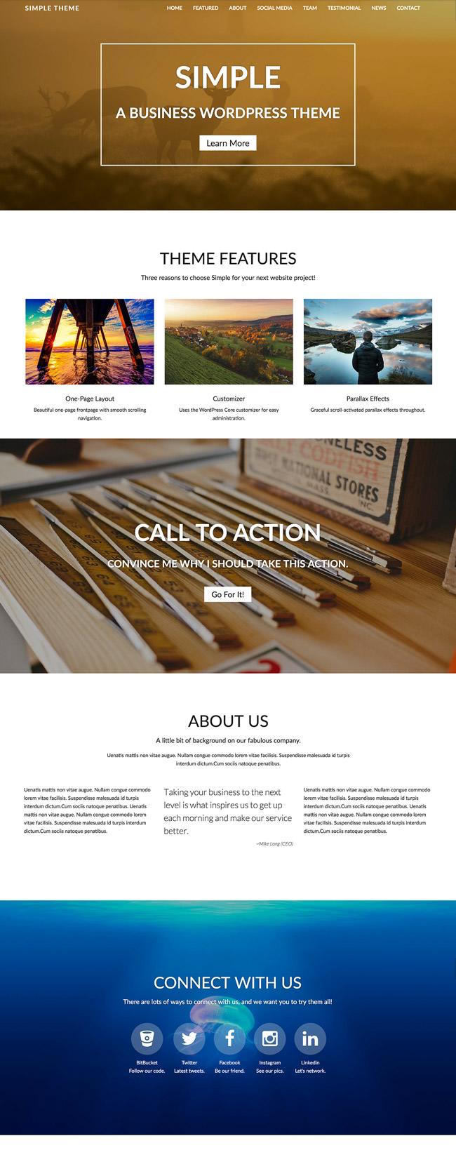 Simple-wordpress-theme