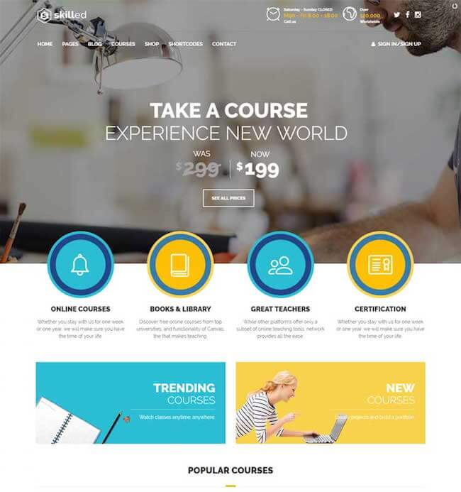 Skilled Education WordPress Theme