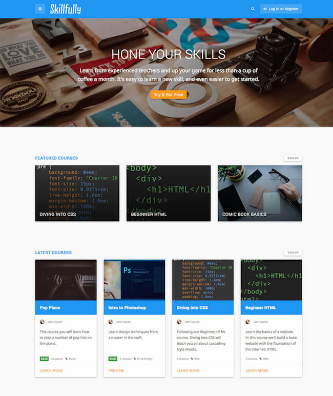 Skillfully WordPress Theme