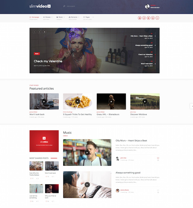 Slimvideo-Video-Community-Theme