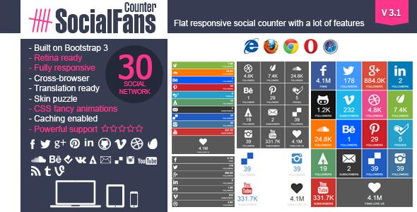 SocialFans WP Responsive Social Counter Plugin