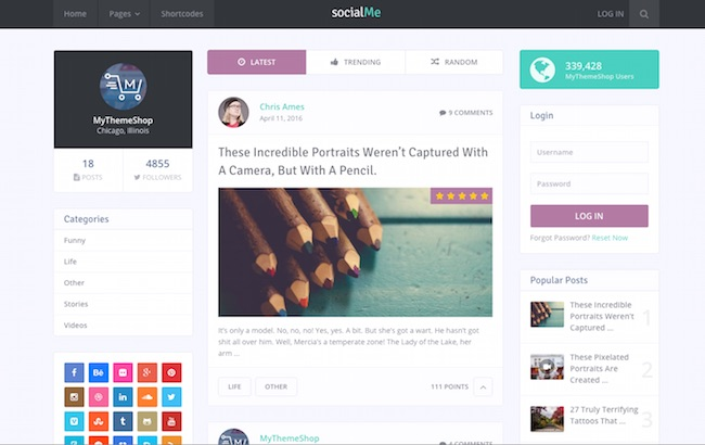 SocialMe WordPress Theme