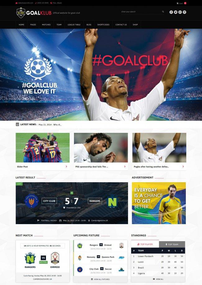 Sports Event WordPress Theme