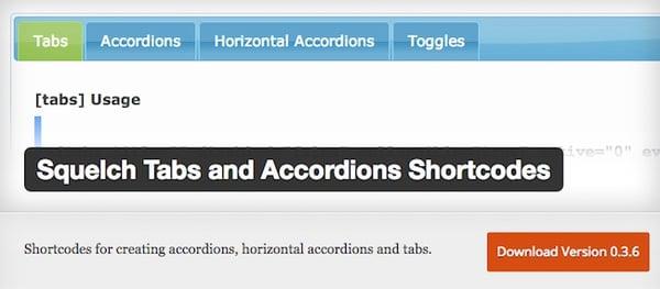 squelch tabs shortcode wordpress tab