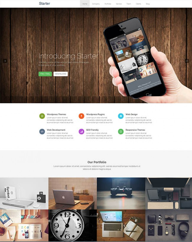 Starter free WordPress theme