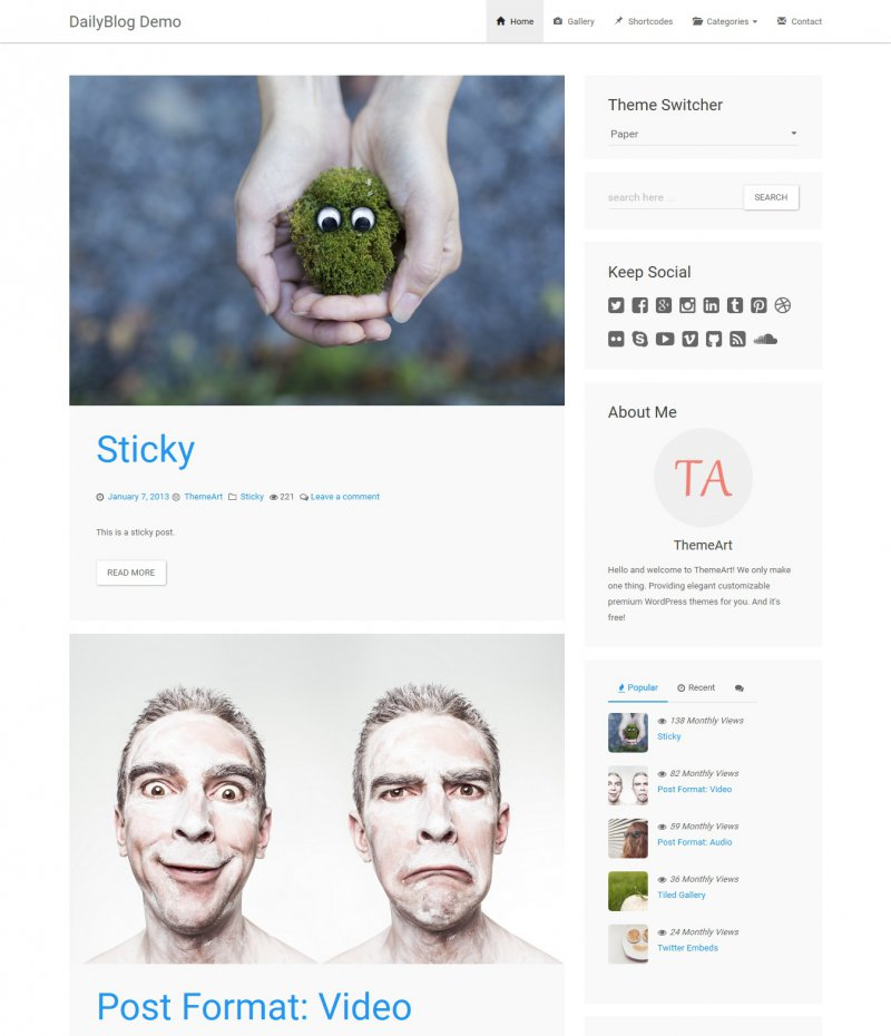 TA DailyBlog free Bootstrap theme