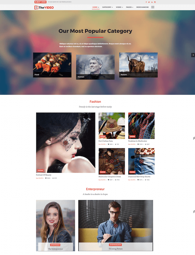 THE PASSION Movie Video WP Theme