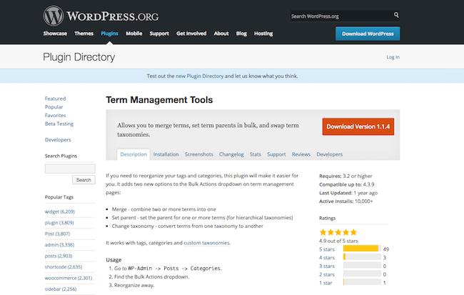 Term Management Tools