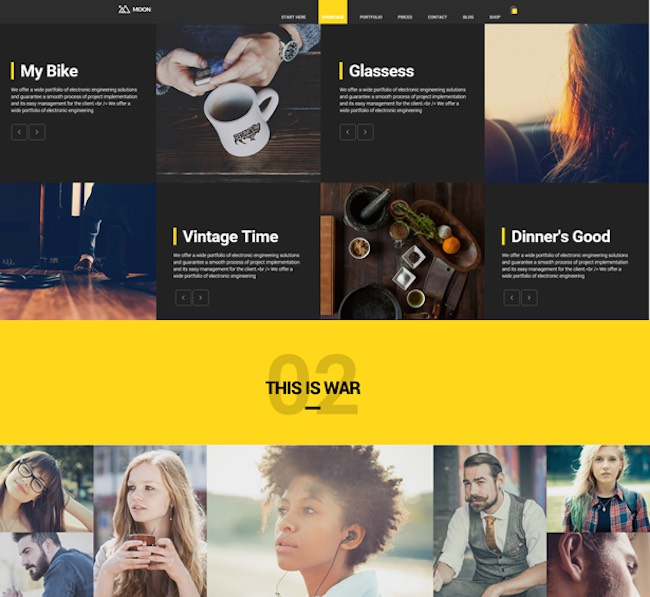 The Moon Creative One Page Multi-Purpose Theme