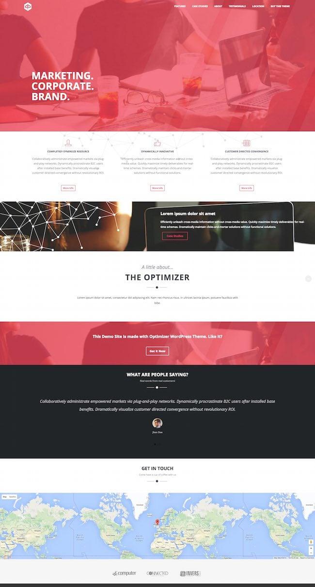 The Optimizer WordPress Theme