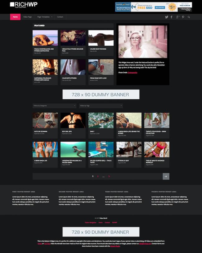 The Video World Theme for WordPress