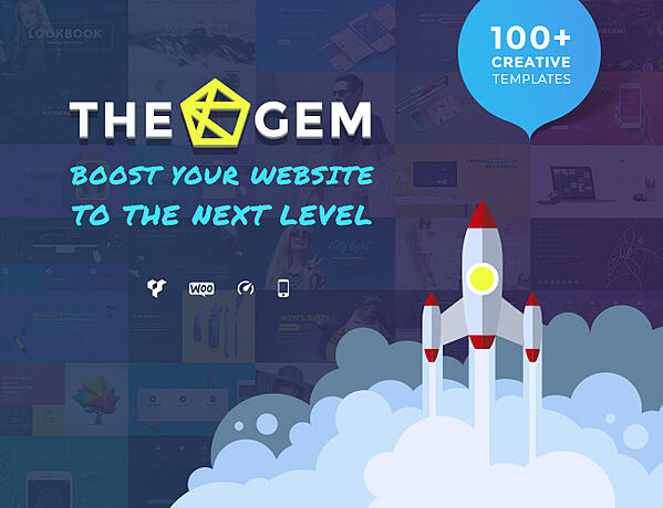 Best Parallax WordPress theme the gem demo