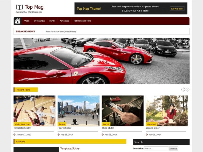 Top Mag Bootstrap Theme