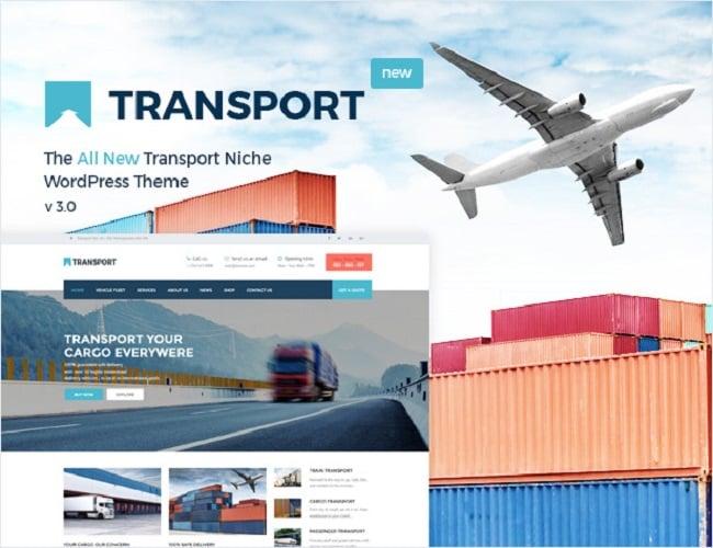 transport wp theme, logistic wp theme