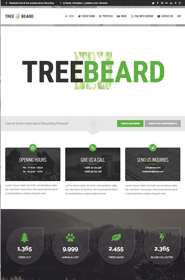 TreeBeard WordPress Theme