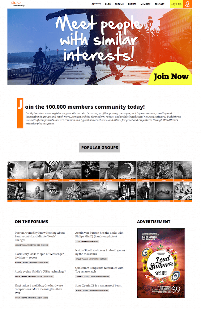 UnitedCommunity WordPress Theme