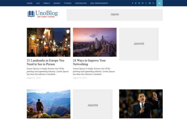 UnoBlog WordPress Theme