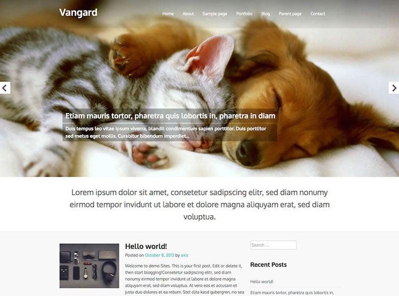 Vangard-free-blog-theme