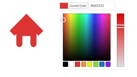 WordPress Vector Icons Plugin Color Selector