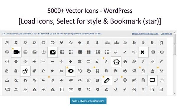 WordPress Vector Icons Plugin
