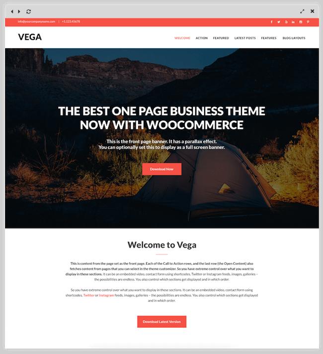 Vega-free-business-theme