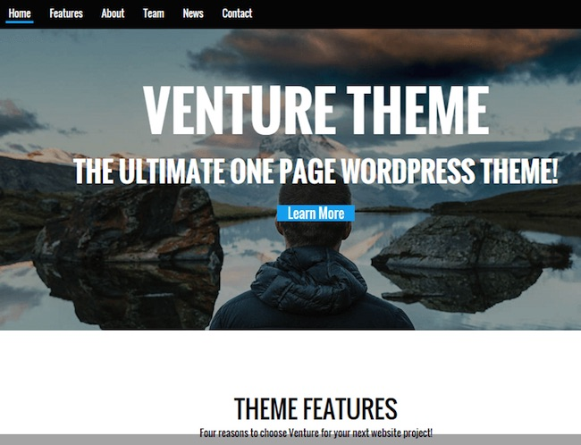 Venture free wordpress theme