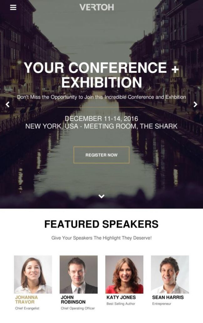 Vertoh Event WordPress theme
